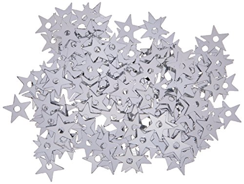 (Darice 400-Piece Tiny Star Sequin, 5mm, Silver)