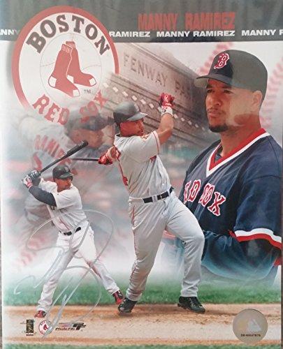 Manny Ramirez Signed Autographed Glossy 8x10 Photo - Boston Red Sox