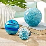 Tozai Capri Set of 3 Spheres Paperweights
