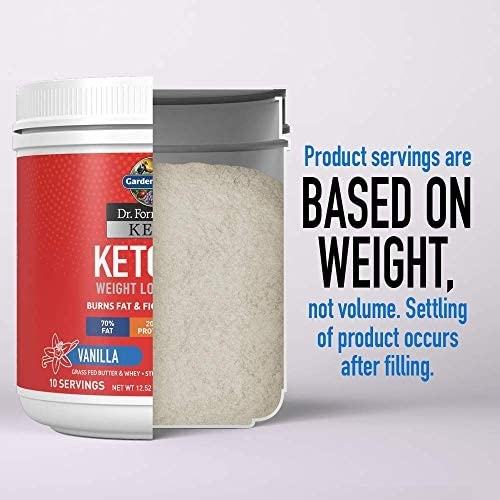 Garden of Life Dr. Formulated Keto Fit Weight Loss Shake - Vanilla Powder, 10 Servings, Truly Grass Fed Butter & Whey Protein, Studied Ingredients & Probiotics, Non-GMO, Gluten Free, Ketogenic, Paleo 11