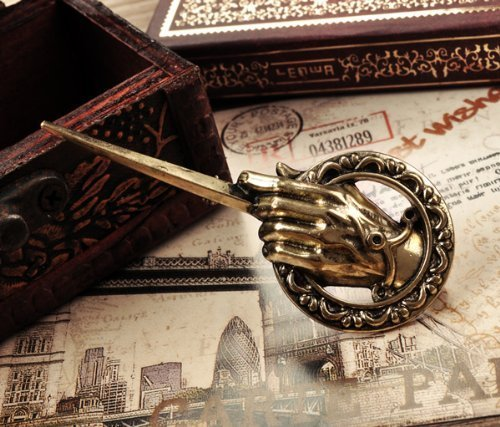 Antique Fire King (SASAMALL Pop Song of Ice and Fire Antique Bronze Hand of the King Metal Pin: Game of Thrones Model:)