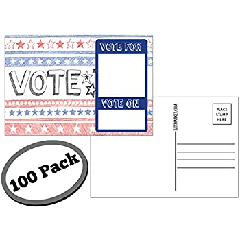 Amazon 50 blank mailable 4x6 heavy duty 14pt postcards with each card in this patriotic bulk set is size 4 x 6 and usps compliant mailable great to get votes or to protest flip side is white reheart Gallery