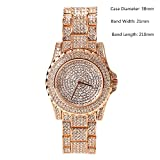 Luxury Full Diamond Lady Watch Rhinestone Stainless Steel Band Bracelet Wristwatch