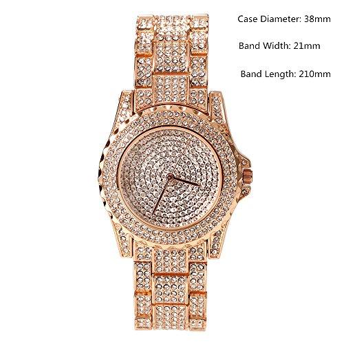 Luxury Full Diamond Lady Watch Rhinestone Stainless Steel Band Bracelet Wristwatch