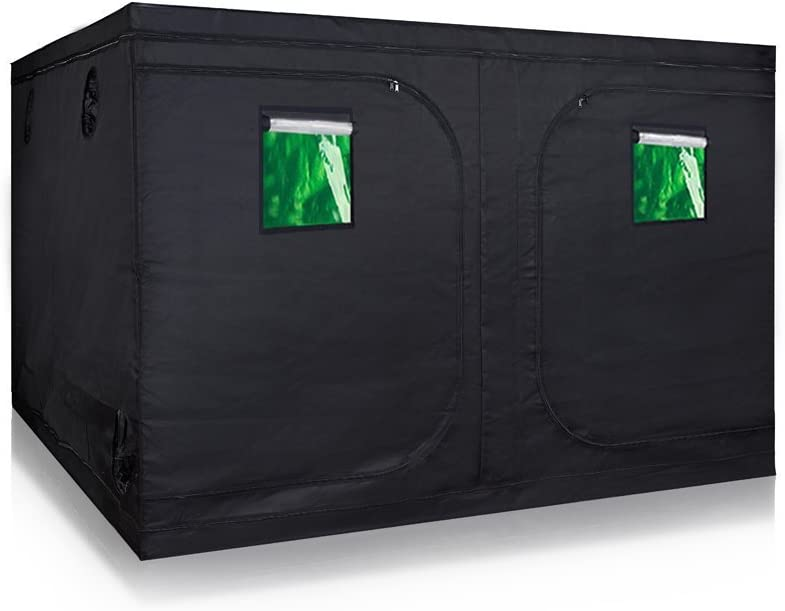 TopoLite 120 X120 X80 Indoor Grow Tent Dark Room Greenhouse for Hydroponic Garden Farm Mylar w Observation Window