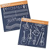 Music Groovi Plates (Set of 2) by Claritystamp