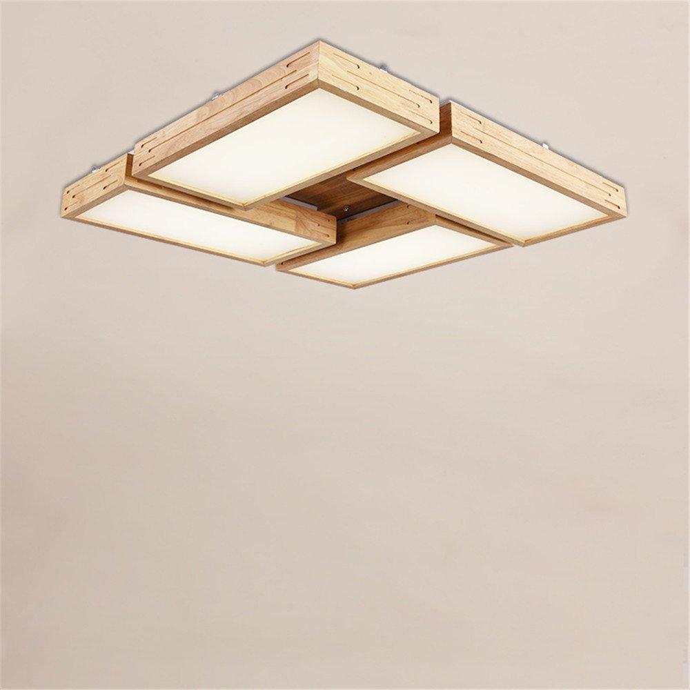 BRIGHTLLT Die Schlafzimmer LED Deckenleuchte Wohnzimmer Balkon Lampen Massivholz Protokolle Massivholz minimalistischen japanischen 3 Farben, 750 mm