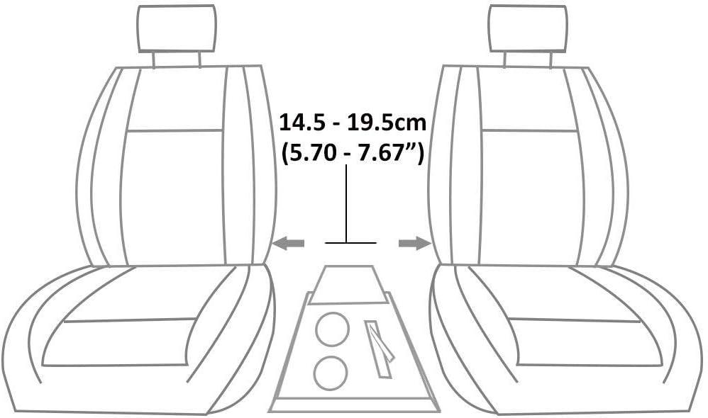 Autohobby 48014 Accoudoir central universel Console centrale en cuir synth/étique Bo/îte de rangement Gris A B C G H J CC 3 4 5 6 7