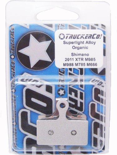 Superlight Alloy Organic Semi-Metallic brake pads Shimano 2011-2015 XTR, XT, SLX, deore, (Pad Spring Race Disc)