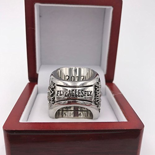 GF-sports store New 2017-2018 Philadelphia Eagles Replica Championship Ring Gift Fashion Gorgeous Collectible Jewelry (box, 11) by GF-sports store (Image #4)