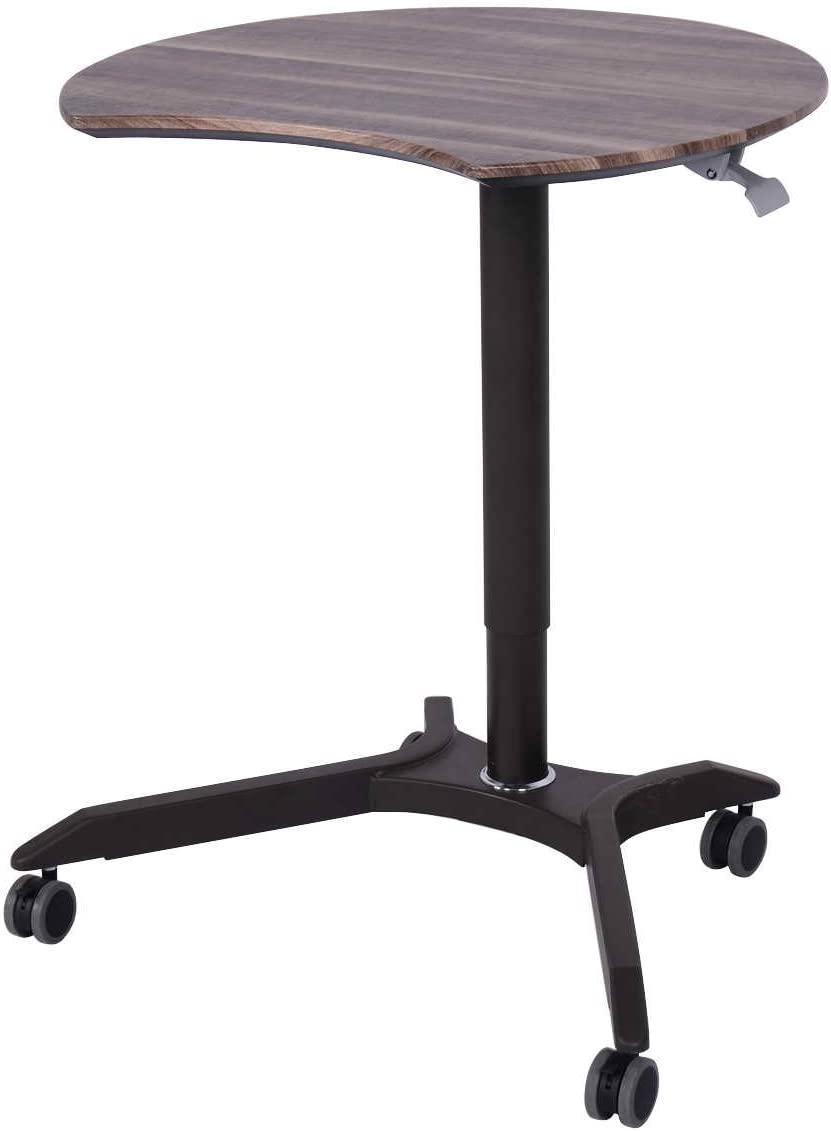 Toolsempire Mobile Sit-Stand Computer Desk Rolling Cart Height Adjustable Laptop Home Office Workstation