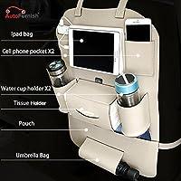Autofurnish 3D Car Auto Seat Back Multi Pocket Storage Bag Organizer Holder Hanger Accessory