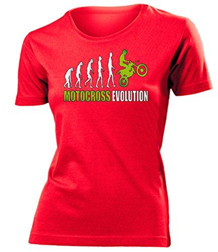 MOTORCROSS EVOLUTION mujer camiseta Tamaño S to XXL varios colores Rot / Grün