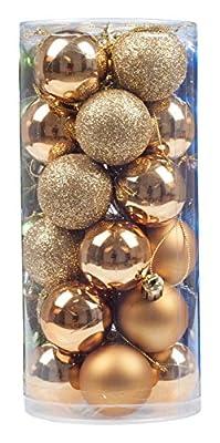 KI Store 24 Pcs Shatterproof Christmas Balls Tree Ornaments