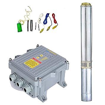 Bomba de agua Solar Sumergible 3SSH 2.2/900/140 + Controladora + ...