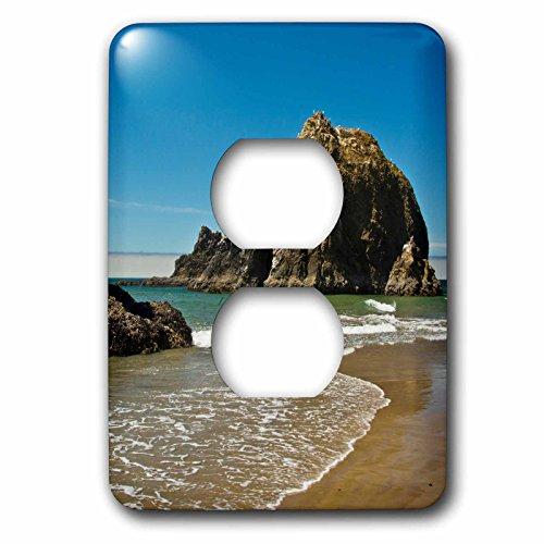 Danita Delimont - Coastline - Sea Stacks, low tide, Oceanside, Oregon, USA - Light Switch Covers - 2 plug outlet cover - Oceanside Outlets