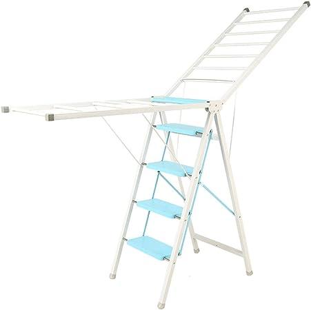Rack de Secado La aleación de Aluminio no se oxida Colgador de Ropa Plegable Balcón de Doble Uso Secado de escaleras: Amazon.es: Hogar