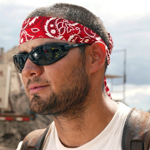 12 Pack Chill-Its 6700 Evaporative Cooling Bandana - Tie Style - Red Western Design ()