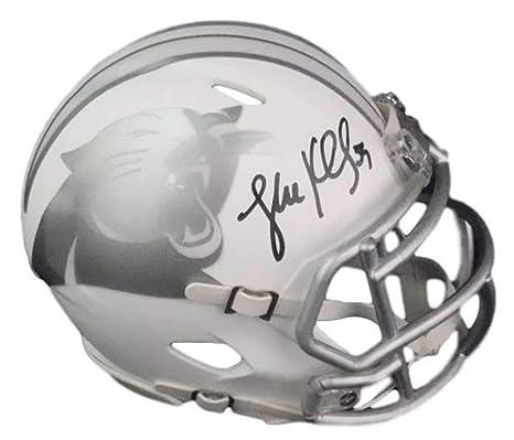 d644e71e9 Amazon.com  Luke Kuechly Autographed Signed Carolina Panthers Ice Mini  Helmet BAS  Sports Collectibles