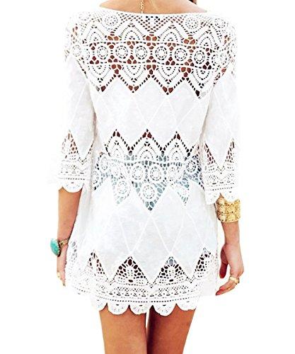 DQdq - Camisola - para mujer Blanco blanco