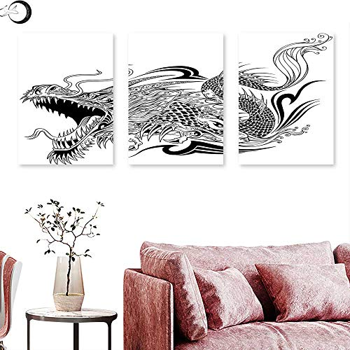 Dragon Living Room Home Office Decorations Tattoo Style