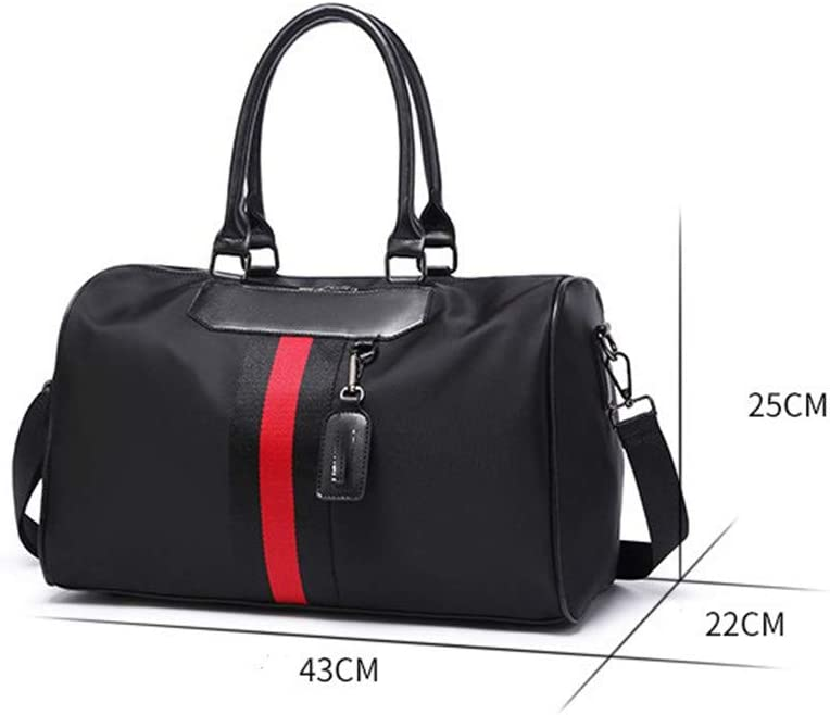 Unisex Travel Carry-on Tote Duffel Unisex Large Capacity Portable Weekend Overnight Travel Bag Gym Sports Duffel Tote Luggage Holdall Handbag Shoulder Bags for Men and Women Weekender Overnight Tote L