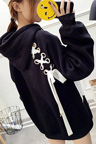 Fall and winter clothes new system bandwidth prednisone plus velvet long-sleeved pullover hooded sweater female Korean student thick coat for women girl