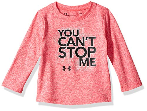 Ballet Long Sleeve Tee - Under Armour Girls' Toddler Long Sleeve Graphic Tee, Penta Pink You Can't Stop me me, 4T