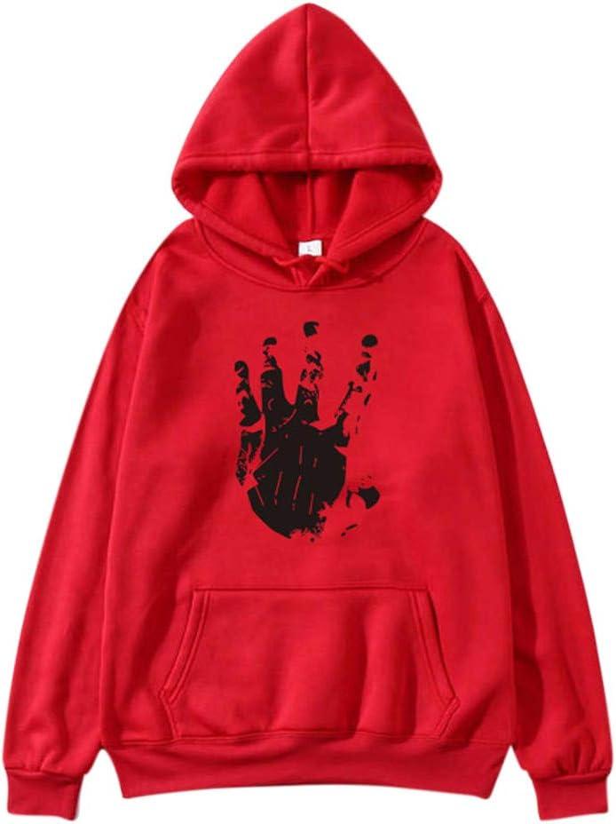 ALOVEMO Womens Loose Long Sleeve Sweatshirt Hoodie Printed Causal Tops Blouse