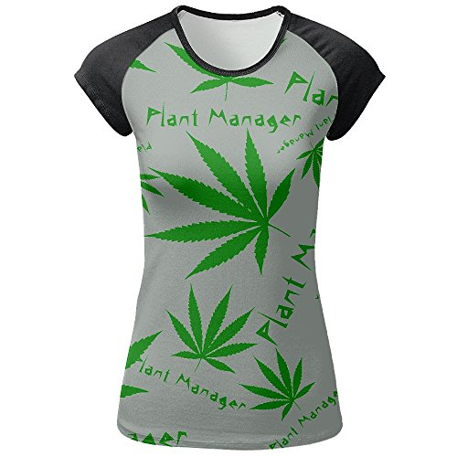 S9Ss Shirts Cannabis Plant Manager Women Printed T Shirts O-Neck Pullover Raglan T-Shirts Tees