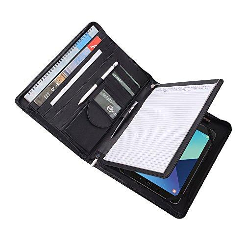 Executive Organizer Portfolio for Samsung Galaxy Tab S3 9.7 and A4 Notepad,Black