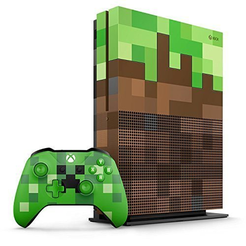 Xbox One S 1TB Limited Edition Console – Minecraft Bundle [Discontinued] (Certified Refurbished)