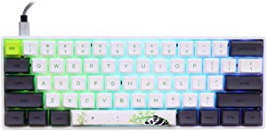 EPOMAKER SKYLOONG SK61 61 Keys Hot Swappable Mechanical Keyboard with RGB Backlit, NKRO, Water-Resistant, Type-C Cable for Win/Mac/Gaming (Gateron Optical Black, Panda)