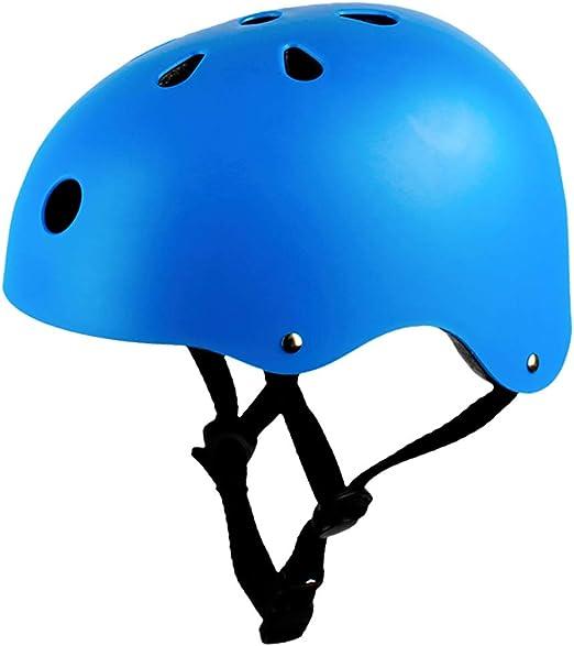 John-L Casco Bicicleta Niño, Casco Scooter para Niños, Adolescentes, Adultos, Cascos De Skate Ajustables, Cascos Multideportivos para Patinaje, Ciclismo (M52-56 Cm),Azul,L(57~61CM): Amazon.es: Hogar