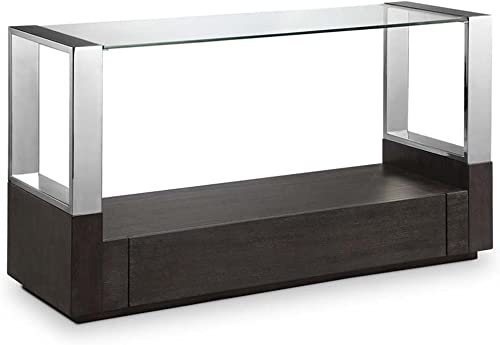 Magnussen Furniture Revere Glass Top Entryway Table with Storage
