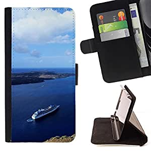 Momo Phone Case / Flip Funda de Cuero Case Cover - Naturaleza Hermosa Forrest Verde 92 - Apple Iphone 5 / 5S