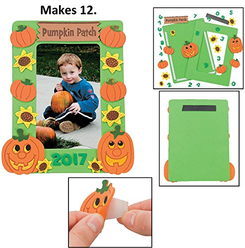 Halloween Picture Frame Craft Kits - 12 Pack (pumpkin patch) ()