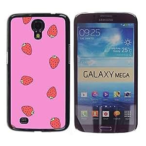 PC/Aluminum Funda Carcasa protectora para Samsung Galaxy Mega 6.3 I9200 SGH-i527 strawberry red pink pattern summer / JUSTGO PHONE PROTECTOR