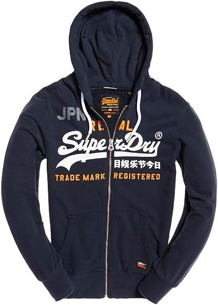 Superdry Vntge Logo Split Lite Ziphood Sweat Shirt À Capuche Homme