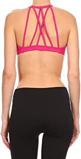product image for Dippin' Daisy's Solid Raspberry Women's Fanned Strappy Back Sports Bra