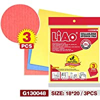 LIAO OCN-051 Cellulose Sponge Pad (Pack of 3)