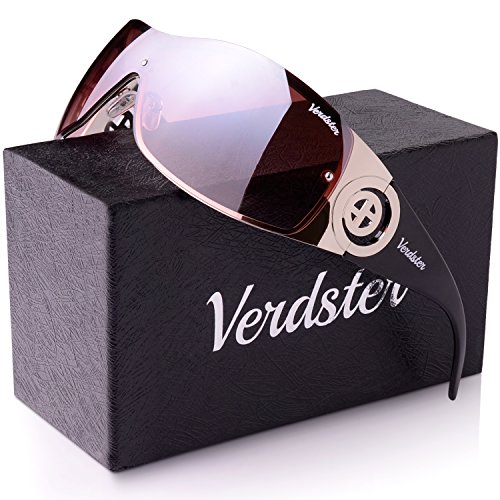(Verdster Casual Shield Sunglasses For Women - Custom TourDePro Lenses - Rimless Gradient Design - Great for Driving or City Walking - UV400 Protection )