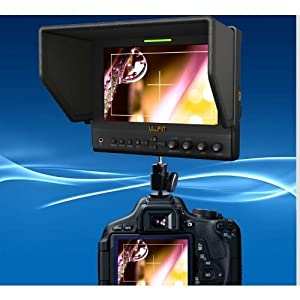 """LILLIPUT 663/O/P/S2(663/S2) 3G-SDI In&out HMDI Output 7""""LED IPS 800:1 Contrast w/SuitCase+folding Sun Shade Cover for DV DSLR Video Camera Such As Canon 500D 600D 1100D 60D 5DII SONY Camera by VIVITEQ INC"""