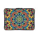 DKISEE Colorful Kaleidoscope Pattern Neoprene Laptop Sleeve Case Waterproof Sleeve Case Cover Bag