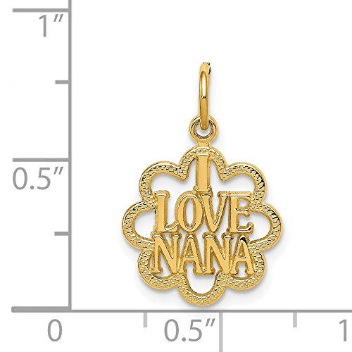 Jewelrypot 14k yellow gold i love nana pendant