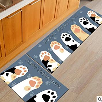 Catu0027s Paw Prints Pad Strip Cartoon Creative Machine Washable Antiskid Mat  Doormat Kitchen Bathroom Toilet Mat