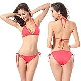 KHUFUZI Women's Tie Side Bikini Swimsuit Triangle Bikinis Bottom Set