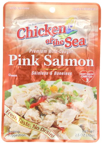 Boneless Salmon (Chicken of the Sea Premium Skinless & Boneless Pink Salmon, 2.5 oz.  (Pack of)
