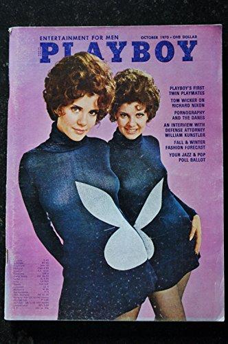 PLAYBOY US 1970 10 OCTOBER LAINIE KAZAN SUPERSEXY MARY & MADELEINE COLLINSON EROTISME