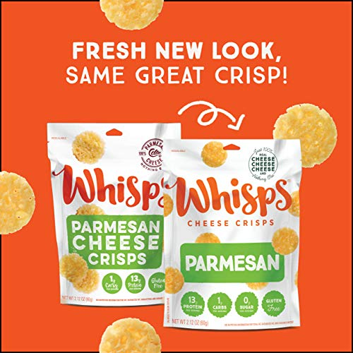 Whisps Cheese Crisps | Keto Snack, Gluten Free, Sugar Free, Low Carb, High Protein | 2.12oz (Pack of 6 (2.12OZ)) 4
